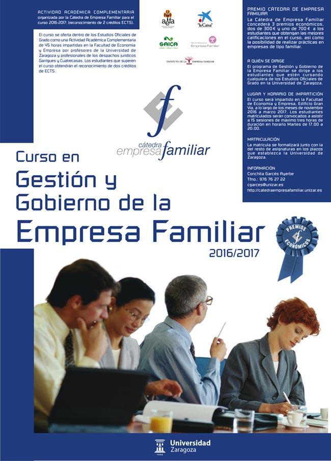 Cartel del Curso en Gestión y Gobierno de la Empresa Familiar